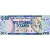 Банкнота 100 долларов. 2009 год, Гайана.