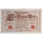 Рейхсбанкнота 1000 марок. 1910 год, Германская империя.