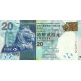 Банкнота 20 долларов. 2013 год, Гонконг.
