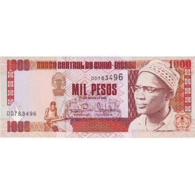 Банкнота 1000 франков. 1993 год, Гвинея.
