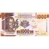 Банкнота 1000 франков. 2015 год, Гвинея.