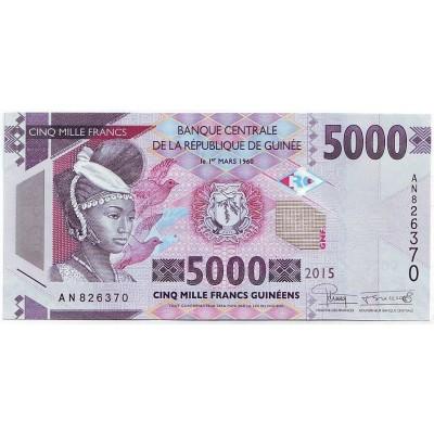 Банкнота 5000 франков. 2015 год, Гвинея.