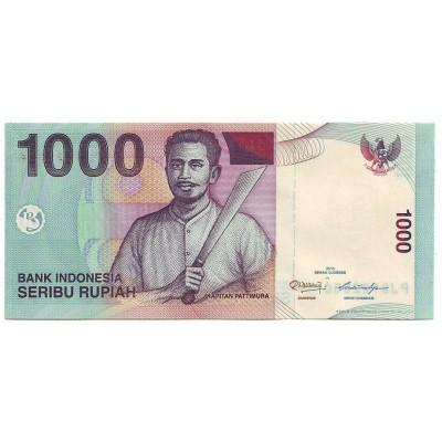 Банкнота 1000 рупий, 2013 год, Индонезия.