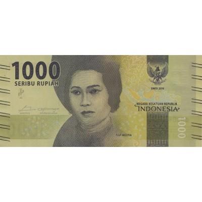 Банкнота 1000 рупий. 2016 год, Индонезия.