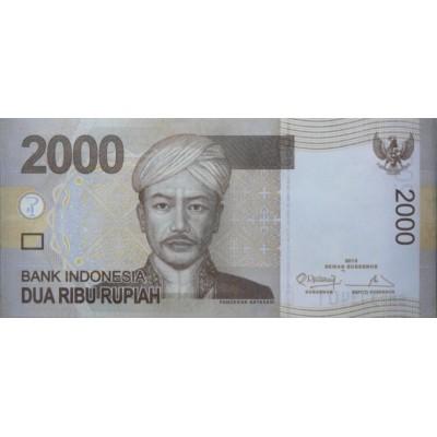 Банкнота 2000 рупий. 2012 год, Индонезия.