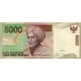 Банкнота 5000 рупий. 2007 год, Индонезия.