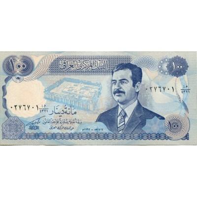 Банкнота 100 динаров. Ирак.