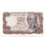 Банкнота 100 песет. 1970 год, Испания.