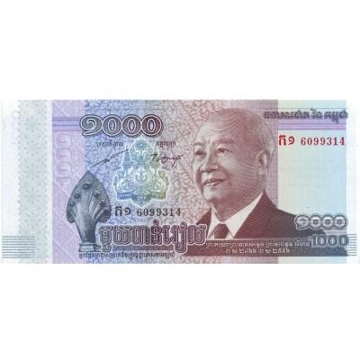 Банкнота 1000 риелей, 2012-2013 гг., Камбоджа.