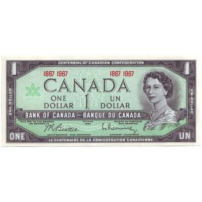 Банкнота 1 доллар. 1967 год, Канада.
