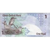 Банкнота 1 риал. Катар.