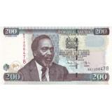 Банкнота 200 шиллингов. 2008 год, Кения.