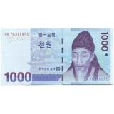 Банкнота 1000 вон. 2007 год Южная Корея.