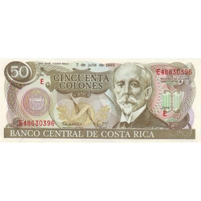 Банкнота 50 колонов. 1993 год, Коста-Рика.