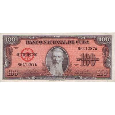 Банкнота 100 песо. 1959 год, Куба.