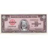 Банкнота 10 песо. 1960 год, Куба.