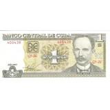 Банкнота 1 песо. 2009 год, Куба.