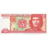 Банкнота 3 песо. 2004 год, Куба.