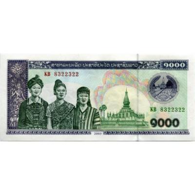 Банкнота 1000 кип. 2003 год, Лаос.
