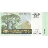 Банкнота 2000 ариари. 2007 год, Мадагаскар.