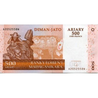 Банкнота 500 ариари. 2004 год, Мадагаскар.