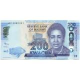 Банкнота 200 квача. 2012 год, Малави.