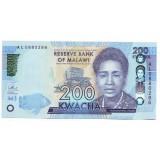 Портрет Розы Чибамбо. Банкнота 200 квача. 2016 год, Малави.