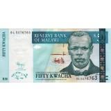 Банкнота 50 квача. 2009 год, Малави.