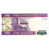 Банкнота 100 угий. 2011 год, Мавритания.