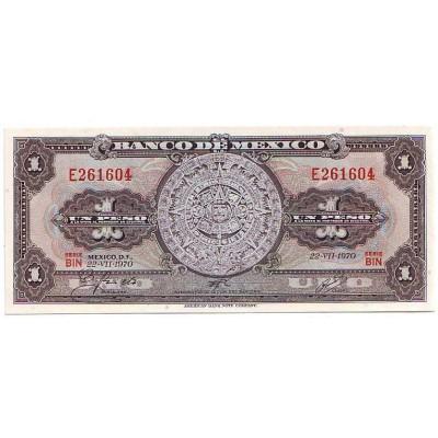 Банкнота 1 песо. 1969-70 гг., Мексика.