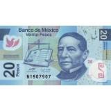 Банкнота 20 песо. 2008 год, Мексика.