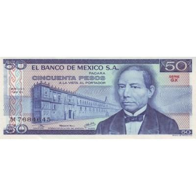 Банкнота 50 песо. 1979 год, Мексика.