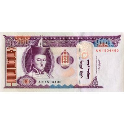 Банкнота 100 тугриков. 2008 год, Монголия.