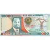 Банкнота 10000 метикалов. 1991 год, Мозамбик.