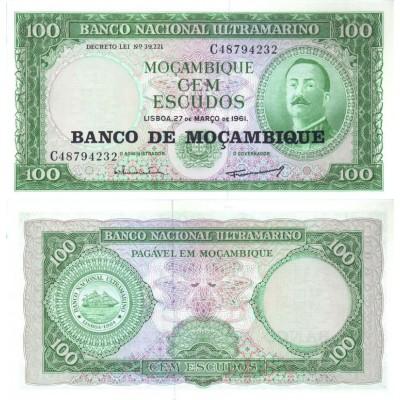 Банкнота 100 эскудо. 1961 год, Мозамбик.