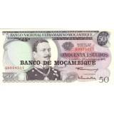 Банкнота 50 эскудо. 1970(1976) год, Мозамбик.