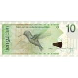 Банкнота 10 гульденов. 2012 год, Нидерландские Антильские острова.