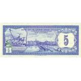 Банкнота 5 гульденов. 1984 год, Нидерландские Антильские острова.