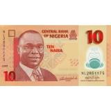 Банкнота 10 найр. 2009 год, Нигерия.