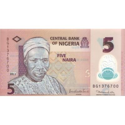 Банкнота 5 найр. 2011 год, Нигерия.