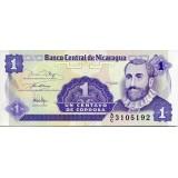 Банкнота 1 сентаво. Никарагуа.