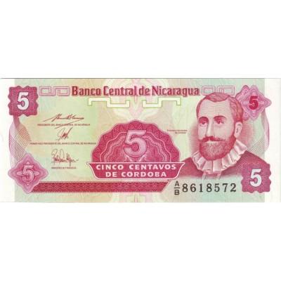 Банкнота 5 сентаво, 1991 год, Никарагуа.