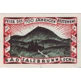 Нотгельд Зальцбрунна. 50 пфеннигов. 1921 год, Веймарская республика (Германия). Вид 2.