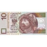 Банкнота 10 злотых. 1994 год, Польша.