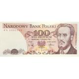 Банкнота 100 злотых. 1986-88 гг., Польша.