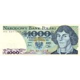 Николай Коперник. Банкнота 1000 злотых, 1982 год, Польша