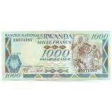 Банкнота 1000 франков. 1988 год, Руанда.