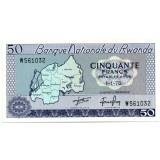 Банкнота 50 франков. 1976 год, Руанда.
