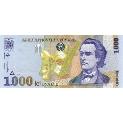 Банкнота 1000 лей. 1998 год, Румыния.