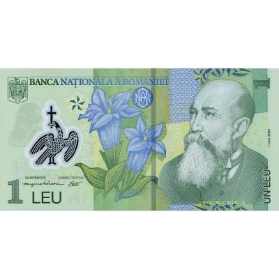 Банкнота 1 лей. 2012 год, Румыния.